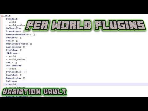 Minecraft Bukkit Plugin - Per World Plugins - Disable plugins via world name