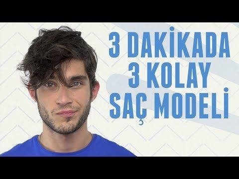 3 Dakikada 3 Kolay Saç Modeli  Erkek Kafası