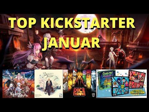 Top Kickstarter Januar - Welche Spiele sind gerade neu?