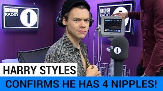 Harry Styles Confirms He Has 4 Nipples + Blushes Over Ryan Gosling