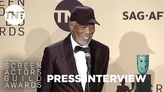 Morgan Freeman: Press Room Q&A | 24th Annual SAG Awards | TNT