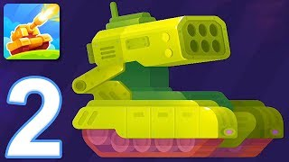 Tank Stars - Gameplay Walkthrough Part 2 - Tournament: Easy (iOS, Android)