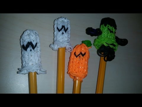 RAINBOW LOOM GHOST PENCIL & FINGER PUPPETS