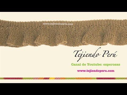 Bufanda con vueltas cortadas tejida en dos agujas (Parte 1)