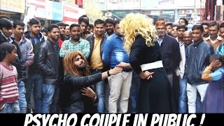 PSYCHO COUPLE Making People Uncomfortable ! (LOVE AND ASH PRANK)