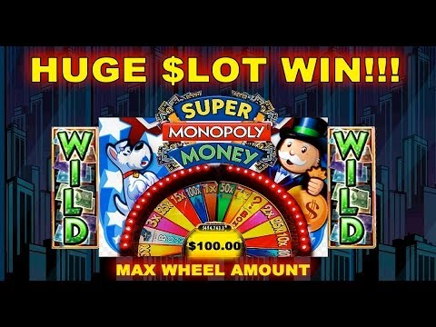 ★ Huge Win Jackpot ★ Wms - Super Monopoly Money Slot Wheel Bonus Spins 5 Cent Machine video