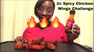 2x Spicy Chicken Wings Challenge By StephAndTasha