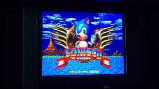 Sonic CD crt iPhone Xs test