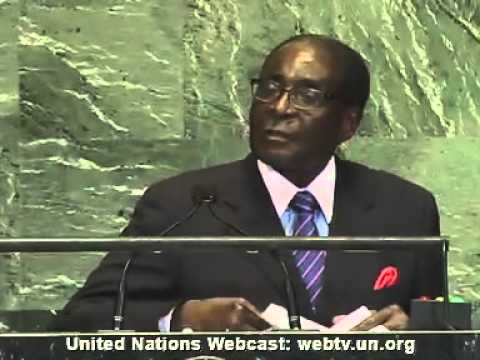 President Mugabe speech at the 67th UN General Assembly (sept. 2012)
