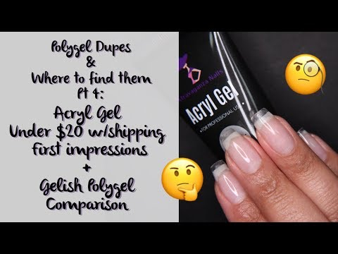 Polygel Dupes and Where to Find them Part 4: Acryl Gel First Impressions + Real Polygel Comparison