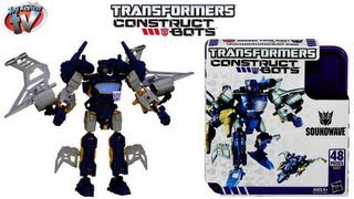 Transformers Construct-A-Bots Elite Class Soundwave Buildable Action Figure Review, Hasbro