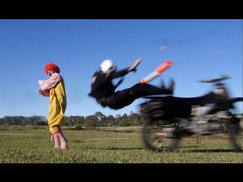Ronald McDonald's Pizza Delivery Car Chase