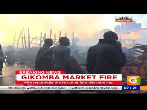 Power Breakfast: Fire razes Gikomba market in Nairobi again