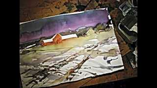 Watercolor landscape demo.