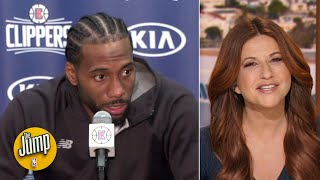 Kawhi's snarky answer to a reporter's question was phenomenal - Rachel Nichols | The Jump