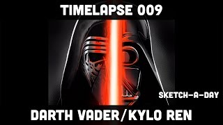Sketch-A-Day Timelapse: Vader/Kylo Ren from Star Wars: The Force Awakens