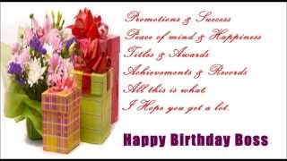 Happy Birthday SMS Message to Boss, Birthday wishes, quotes, greetings for boss