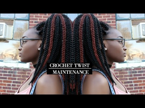 Crochet Twist Maintenance   Night Routine. Get Rid of Frizz. Moisturize