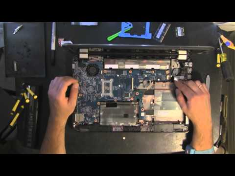 HP PAVILION G6 take apart video. disassemble. how to open disassembly