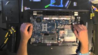 HP PAVILION G6 take apart video, disassemble, how to open disassembly