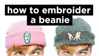 How To Embroider A Beanie  DIY Beanie Embrodery Tu