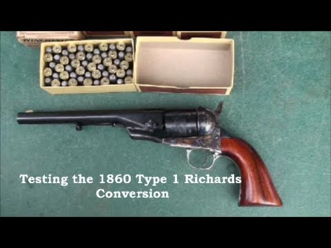 Testing The 1860 Type 1 Richards Conversion 44 Colt