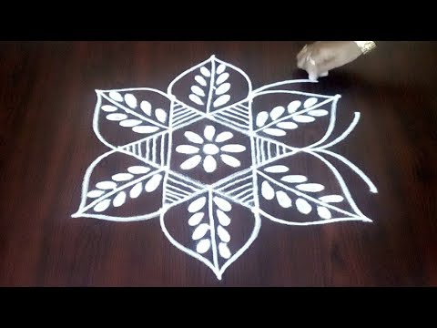 Easy Step By Step Rangoli Design  || Easy Chukkala Muggulu With Simple Dots 5 x 3 || Fashion World