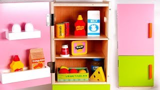 Fridge Playset for Children | Refrigerator Filled with Grocery Toys