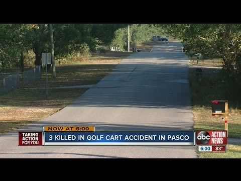 3 killed in golf cart accident in Pasco