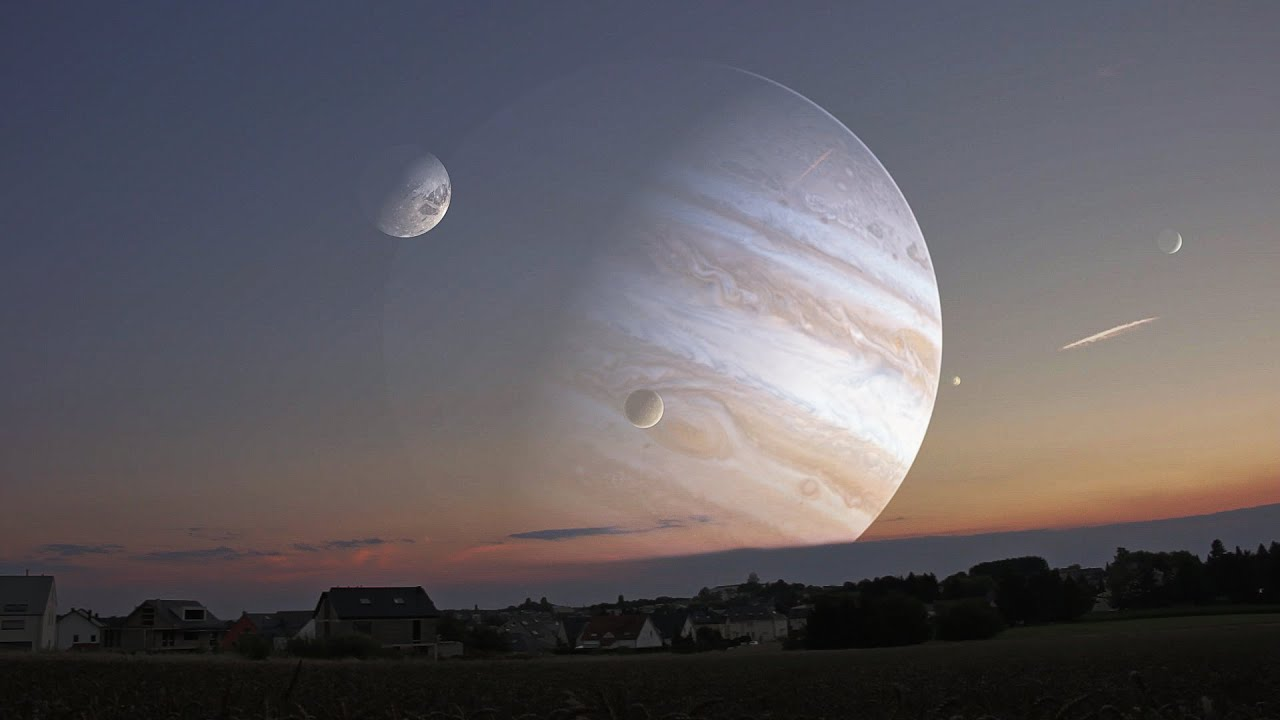 What Would It Look Like Jupiter In Twilight Youtube