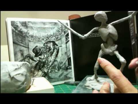 Super Sculpey Ecorche Figurine Sculpting-Part 03/34