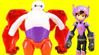 Disney Big Hero 6 Mini-Max & Squish To Fit Baymax Toy Unboxing With Just4fun290