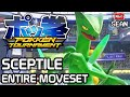 Pokken Tournament: Sceptile ENTIRE MOVESET & FINISHER