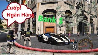 GTA 5 Giả Cảnh Sát Cướp ngân hàng lớn nhất thành phố bằng siêu xe Lamboghini COP