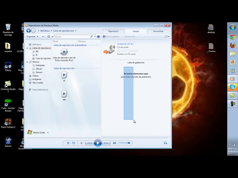como grabar DVD´s y/o CD con el reproductor de windows media