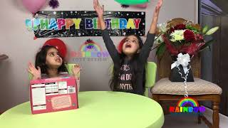 Little Baby Birthday Surprise Toys, Popping Balloons, Rainbow ToysReview Kids Princess Cake Cutting