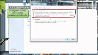 Windows 7 - Yedekleme ve Geri Yükleme Özelliğini Kullanma
