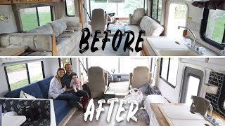 Renovated RV Before and After - OUR NEW HOME!!