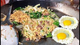 Fried Noodles - Asian Street Food, Fast Food Street in Asia, Cambodian Street food #257