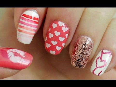 Valentine's Day Nail Tutorial (Konad Stamping)