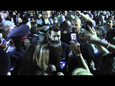 Thanos Petrelis singing among the crowd at Greek Community Festival Toronto - July 5th 2014
