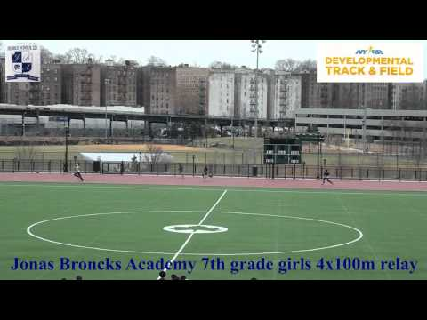 "Jonas Bronck Academy MS228 Track and Field 4x100m relay Girls ""B"""