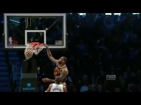Lebron James Throws Down the Ferocious Alley-Oop Jam