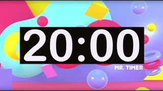 Timer for Kids! 20 Minute Timer with Music for Classroom, Children! Instrumental Music for Kids!