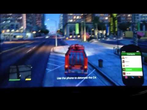 Game | how to detonate c4 in gta 5 through cell phone | how to detonate c4 in gta 5 through cell phone