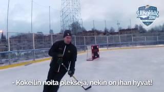 Ulkojäät 2016   Tapio Laakso ja Aleksi Mustonen testaamassa Sorsapuiston kenttää ensimmäistä kertaa