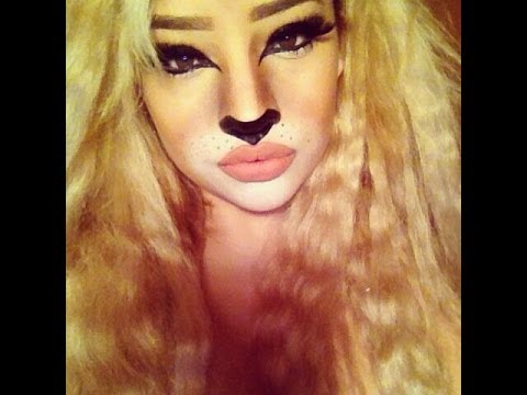 Lion Hair Tutorial Halloween Lion Makeup Tutorial