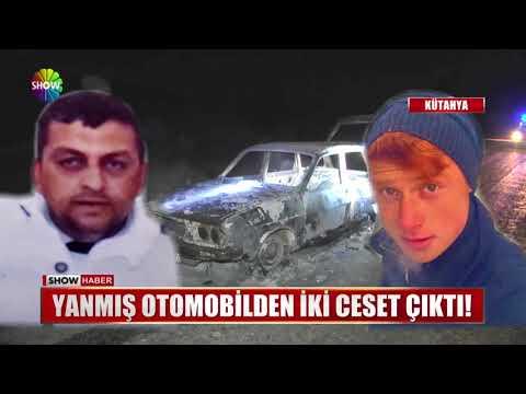 Yanmış otomobilden iki ceset çıktı!