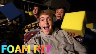 STAYING THE NIGHT IN THE FOAM PIT!