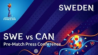 SWE v. CAN - Sweden Pre-Match Press Conference
